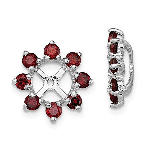 925 Sterling Silver Red Garnet Earrings Jacket Birthstone January Fine Jewelry Gifts For Women For Her