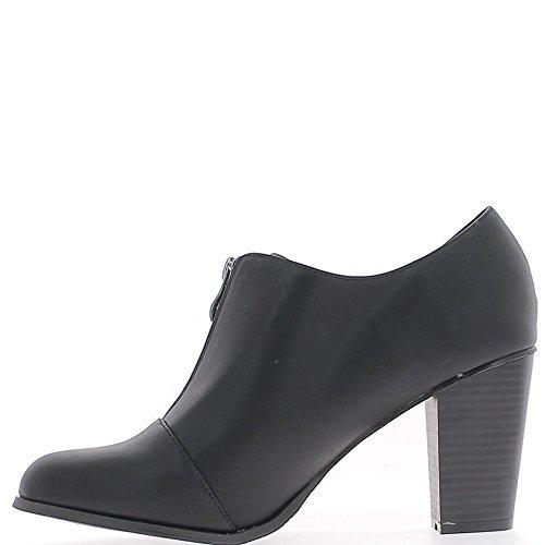 Richelieux große schwarze Frau Größe 9,5 cm Absatz