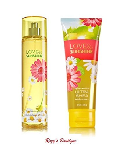 Signature Collection – Love & Sunshine - Gift Set- Fine Fragrance Mist 8 Fl Oz & Ultra Shea Body Cream ()