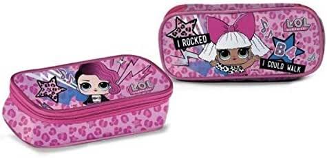 Estuche con bolsita Lol Surprise Escuela cremalleras cartera B4 rocked Fucsia Espejo Maquillaje Interior + regalo Bolígrafo de purpurina + regalo marcapáginas: Amazon.es: Oficina y papelería