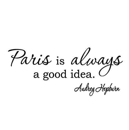 VWAQ Paris is Always a Good Idea Audrey Hepburn Wall Art Quotes Wall Decals -