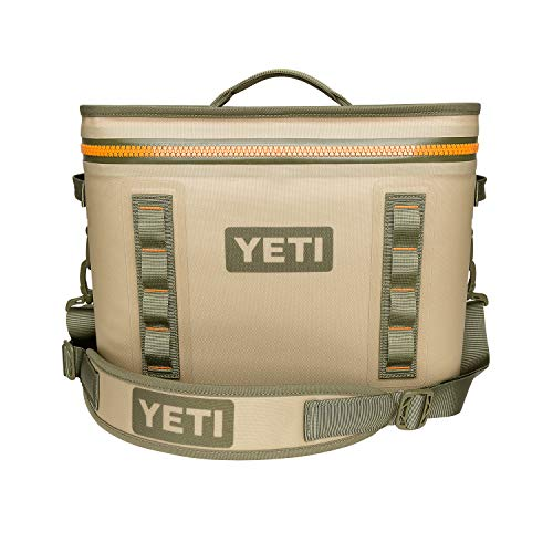 YETI Hopper Flip 18 Portable Cooler, Field Tan/Blaze Orange (So Much Cooler With Something In Your Mouth)
