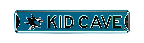 Authentic Street Signs NHL Hockey Officially Licensed STEEL Kid Cave Sign-Decor for sports fan bed room! (San Jose Sharks) (Wall Sharks Jose San)