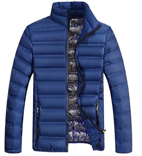Puffer Caldi Mens Leggero Blu Inverno Basamento Del Collare Sicurezza Packable Cappotti Piumino Del tzwxqgdHA