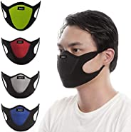 WJKL&MCN Washable Reusable Floral Cotton Half Face Cover Unisex Mouth Covers Protection Half Windproof Fac