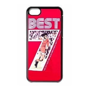 iPod Touch 6 funda Negro [PC dura de la funda + HD Pattern] George Best® Series [Numeración: FHJSFOHSK6140]