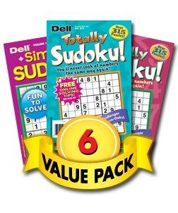 Sudoku Delight 6-Pack
