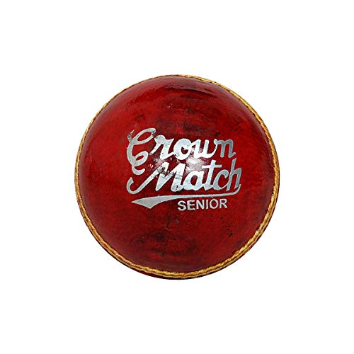 GM 1600470 Crown Match Leather Cricket Ball  Red