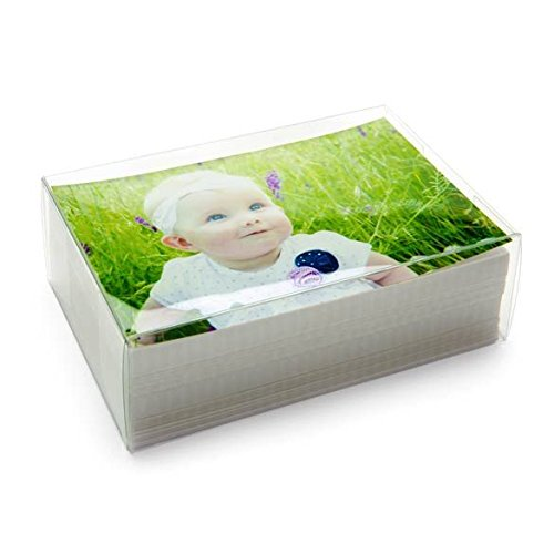 5 1/8'' x 2'' x 7 1/8'' Crystal Clear Boxes (25 Pieces) - CB-FPB326