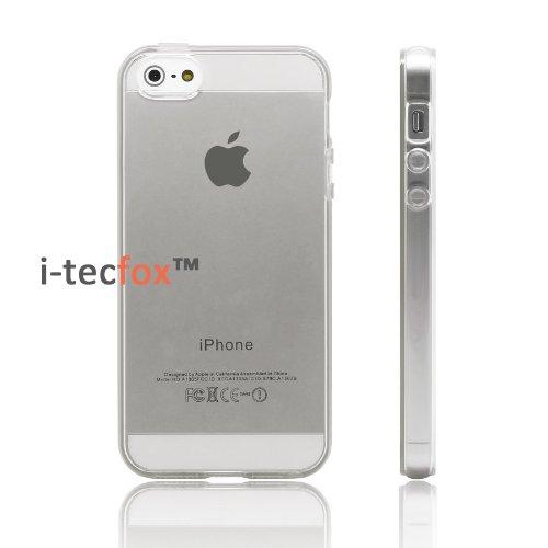 i-tecfox Premium Gel Cover für Apple iPhone 5 / 5S - transparent, Silikon, Smart Case Schutz Hülle Bumper Skin