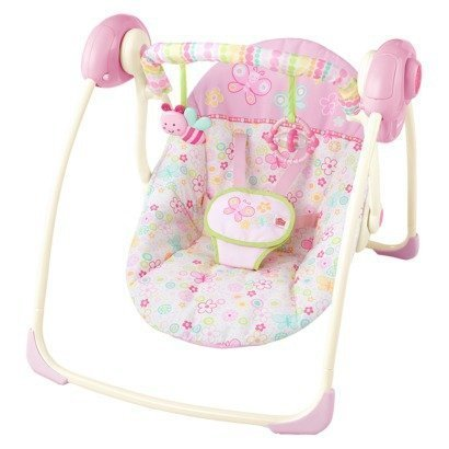 Bright Starts Flutter Dot Portable Swing - Pretty in Pink by Bright Starts