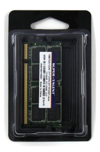 Super Talent DDR2-667 SODIMM 1GB/64x8 Value Notebook Memory T667SB1G/V by Super Talent (Image #1)