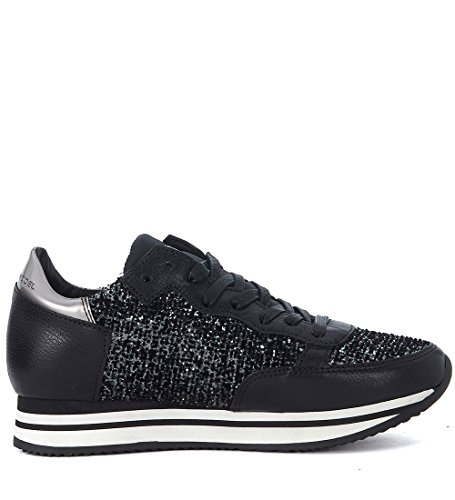 Model Glitter Black Tropez with Canvas Philippe Sneaker Black HqC4d4w