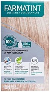 Farmatint Tinte Rubio Platino de Pelo Crema 10N: Amazon.es ...