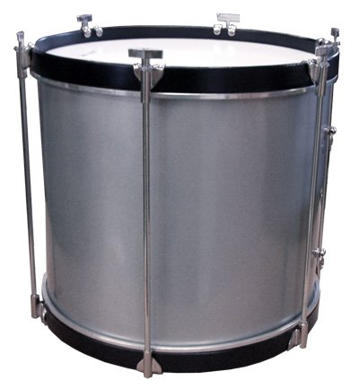 Timbal de cofradía de aluminio, Ø30.5 cm / 12'' x 40 cm altura, parches poliéster