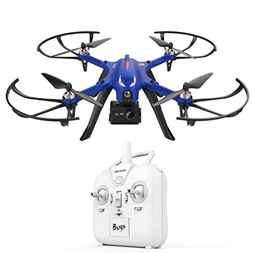 DROCON Bugs 3 Powerful Brushless Motor Quadcopter High Speed Flying Gopro Drone for Adults and Hobbyilists, Blue by DROCON