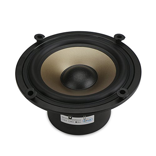 DROK 8 Ohms Hifi Loundspeaker 50W Low-frequency Woofer, 6.5'' Champagne Megabass Speaker for Subwoofer, Dual Magnetic Audio Speakers, DIY Speakers for Bass Amp Loud Speaker Home Audio System by DROK