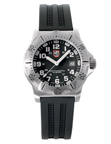 Luminox LU8051 - Reloj analógico de cuarzo para hombre con correa de caucho, color negro: Amazon.es: Relojes