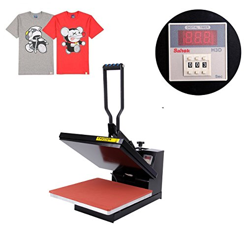 Iglobalbuy 15 x 15 inch Black Digital Clamshell Heat Transfer Press Machine T-Shirt Sublimation by Iglobalbuy