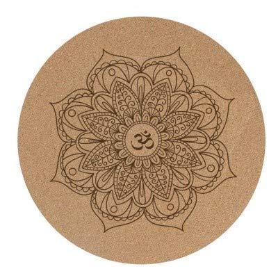 YOOMAT 3mm runde Kork Yoga Kissen Mandala Yoga matten naturkautschuk Rutschfeste Yoga Kissen Hause Meditation pad Pilates matten durchmesser60cm