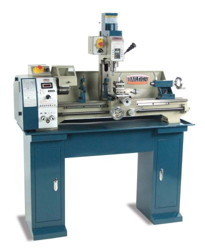 Baileigh MLD-1030 Mill Drill Lathe, 120V, 8-56 TPI Thread, 50-2000 rpm Variable Speed