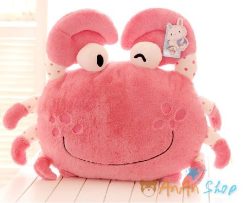 Cute Crab Hold Pillow Plush Portunid Cushion Stuffed Animal Doll Soft Toy Gift