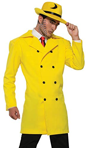 Forum Novelties Pop Art Gangster Jacket, Yellow ()