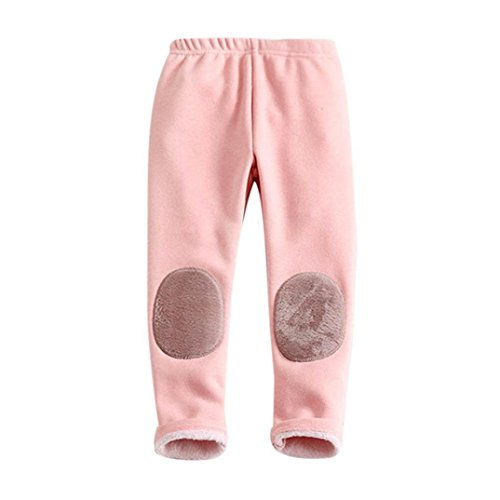Starxin Newborn Toddler Kid Baby Girls Boys Fashion Cute Cotton Stretch Leggings Warm Thick Lined Long Pants Trousers (Pink, 3T(2~3years)) ()