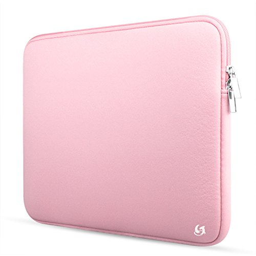 Litop 11 11.6 Inch Neoprene Zippered Laptop Sleeve Case Cover Shell for 11.6 inch Macbook Air and Other 11 Inch Laptop Computer (11.6 inch, Pink)