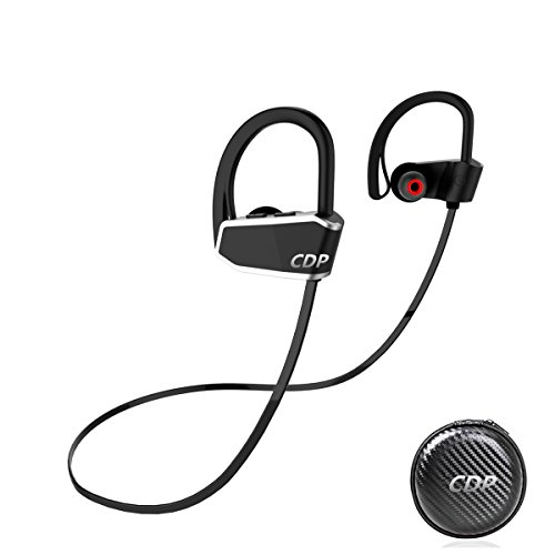 Hd Stereo Headset (Sports Bluetooth Headphones, CDP Bluetooth Earphones Noise Cancelling, IPX7 Waterproof Headsets,8 Hrs Play, HD Stereo HiFi Sound Enhanced Bass,Running earphone with Mic for Sports,Driving,Gym. (Black))