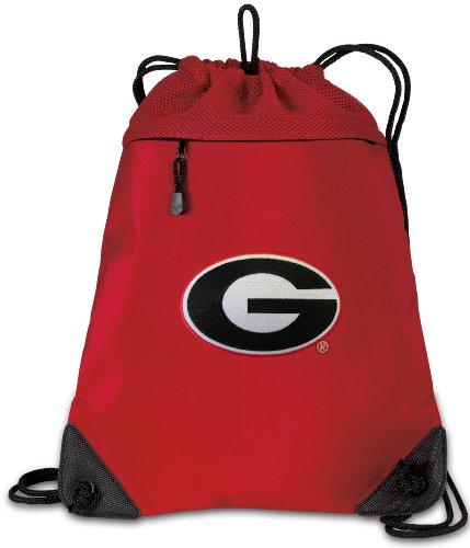 University of Georgia Drawstring Backpack Bag Georgia Bulldo