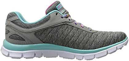 Youth Girl/'s Skechers Skech Appeal Eye Catcher Sneakers Grey//Aqua