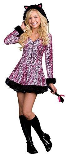 [UHC Teen Girl's Pretty Little Kitten Theme Party Fancy Dress Halloween Costume, JR XS (0-2)] (Little Girl Scary Clown Costume)