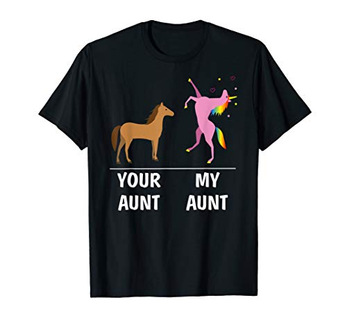 Your Aunt Horse My Aunt Unicorn Funny T Shirt For Kids Tees