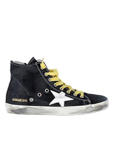 Golden Goose Ladies Garws591b13 Sneakers Nere In Lino Grezzo
