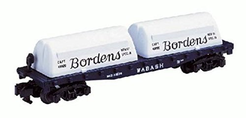 American Flyer 6-48524 Borden's Milk Containers on Wabash Flat Car Dairy car S