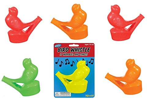 Set of 6 Warbling Bird Whistles Party Favors Speech Therapy Tool -