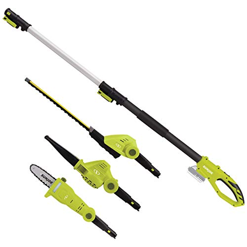 Sun Joe GTS4001C Garden Tool System, (Hedge Trimmer, Pole Saw, Leaf Blower) (Renewed)