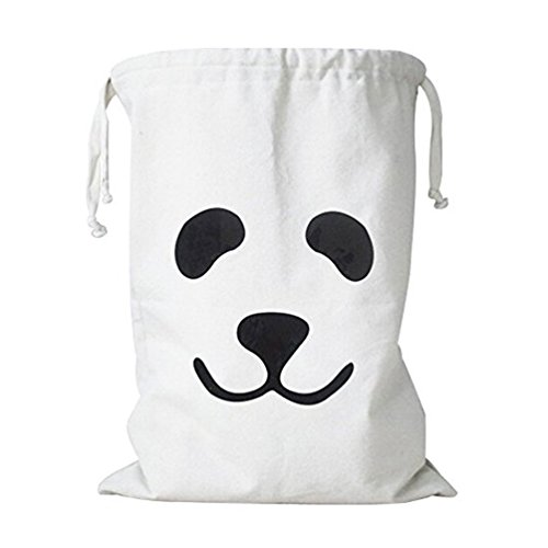 Bin Bag Halloween Costumes (Wujee Canvas Toy Storage Bag - Clothes Gift Organizer Container - Space Saver Packing Bag for Home Office Travel)