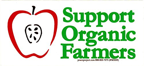 Support Organic Farmers - Magnetic Small Bumper Sticker / Decal Magnet (5