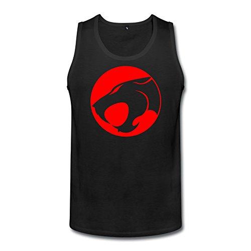 Men's Thundercats Logo Jaga Thundera Cats Hideaway SleevelessTanktop Tank Tops