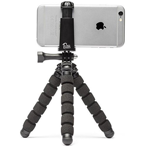 Pixter Flexible Gorilla Tripod for smartphone [French Start-up] - Pixter Compatible iPhone 7plus, 7/ 6s Plus / 6 / 5s, Samsung Galaxy S8 / S7, all smartphones