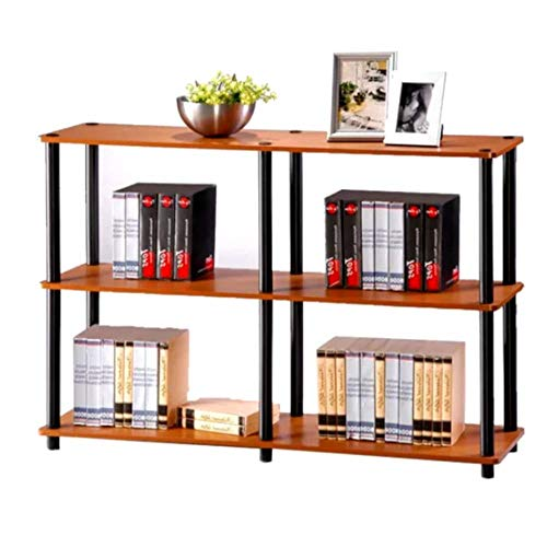 Classroom Bookshelves and Bookcases Etagere Bookcase Light Cherry/Black 3 Tier Industrial Modern Free Standing Rectangle Bookcase & E-Book by Classroom