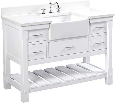 Amazon.com: Charlotte 48 inch Bathroom Vanity (Quartz/White