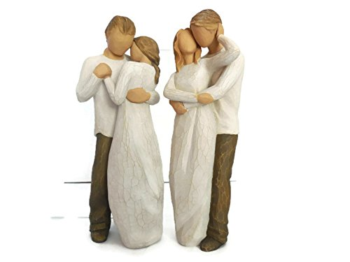 Willow Tree Together Love Couple Figurines Bundle With Promise Statue, Best Anniversary, Holiday, Christmas Gifts for a Couple, Newlyweds, Wedding Couple, Husband and Wife (Figurine Tree Together Willow)
