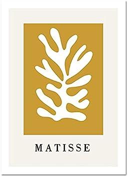 Póster nórdico de rostro humano abstracto colorido de Matisse minimalista y cuadro de arte de pared impreso pintura en lienzo sin marco A1 40x60cm