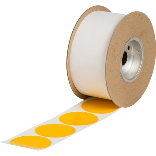 Brady Nonabrasive Dot Shaped Floor Marking Tape, 3'' Diameter, Yellow (Pack of 1000 per Roll)