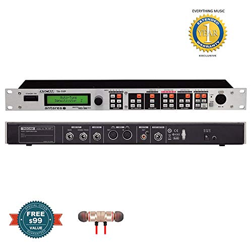 Tascam TA-1VP Antares Auto-Tune Vocal Processor With Antares Auto-Tuneincludes Free Wireless Earbuds - Stereo Bluetooth In-ear and 1 Year Everything Music Extended Warranty