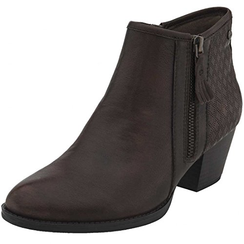 Earth Womens Osprey Boot Dark Brown Brush-off Leather