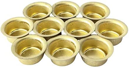 10er Set Kerzent/üllen aus Metall Gold Kerzenhalter f/ür Baumkerzen Kerzeneinsatz 10mm. Tafelkerzen und Teelichter
